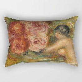 """Auguste Renoir """"Roses et Étude de Gabrielle"""" Rectangular Pillow"""