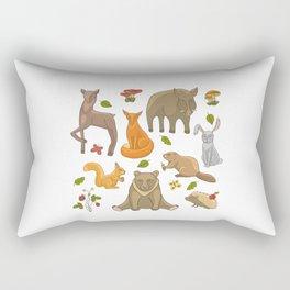 Funny forest animals set Rectangular Pillow