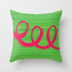 Curly Hair Throw Pillow