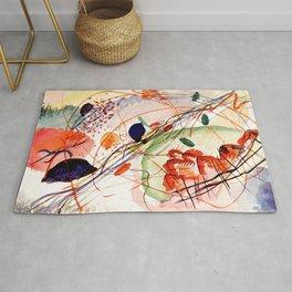 Wassily Kandinsky - Aquarell print in high resolution by Wassily Kandinsky (1866–1944), litograph print Bauhaus Rug