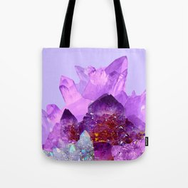 VIBRANT PURPLE AMETHYST CRYSTALS Tote Bag