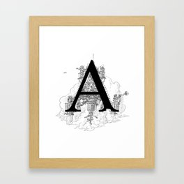 Alphabetanauts - A Framed Art Print