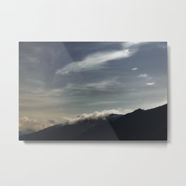 Night Sky Clouds | Nature and Landscape Photography Metal Print