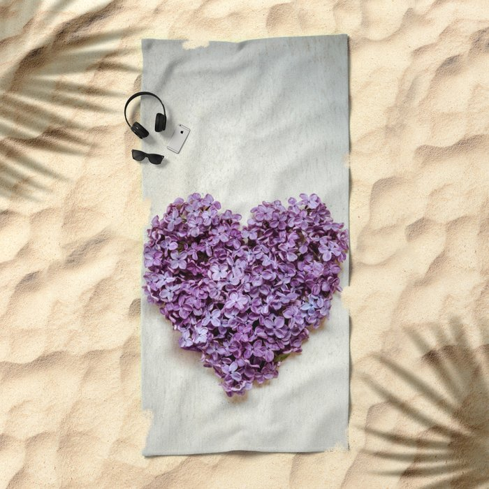 Summer Heart Beach Towel