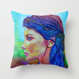 Caitriona Balfe Throw Pillow