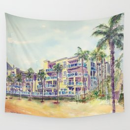 1500 E Ocean Blvd. Long Beach Wall Tapestry