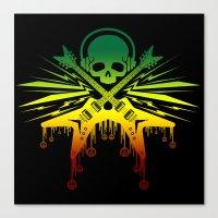 punk rock Canvas Prints featuring punk rock  by jhun21