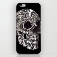 bioworkz iPhone & iPod Skins featuring Ornate Skull by BIOWORKZ