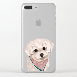 Zoey the Yorkie Poo Clear iPhone Case