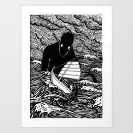 Umibōzu 海坊主 Art Print