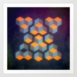 Geo Blur Art Print
