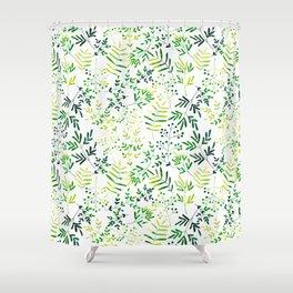 Four Plants Pattern Shower Curtain