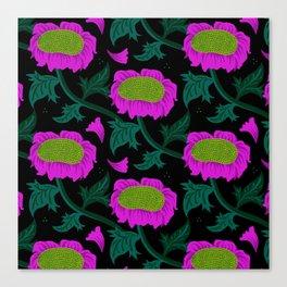 Night Foliage - pink Canvas Print