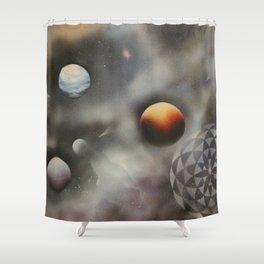 Birth of a Star Shower Curtain