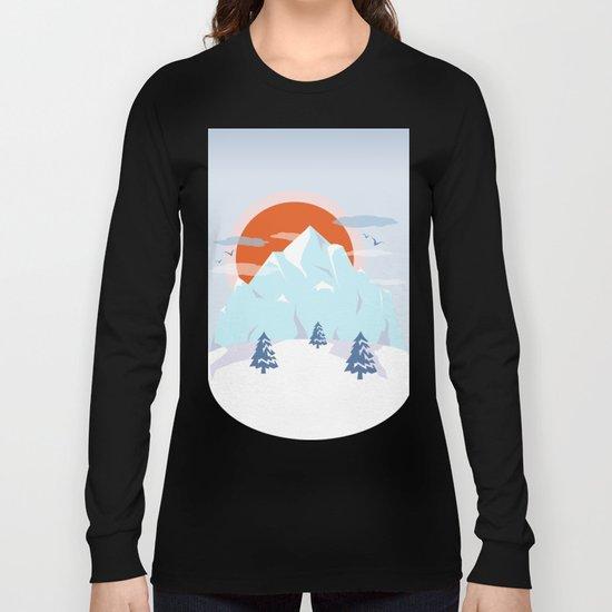 Winter breeze in Alpes Long Sleeve T-shirt