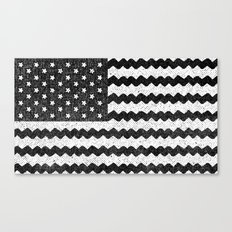 Black Zig Zag Flag Canvas Print