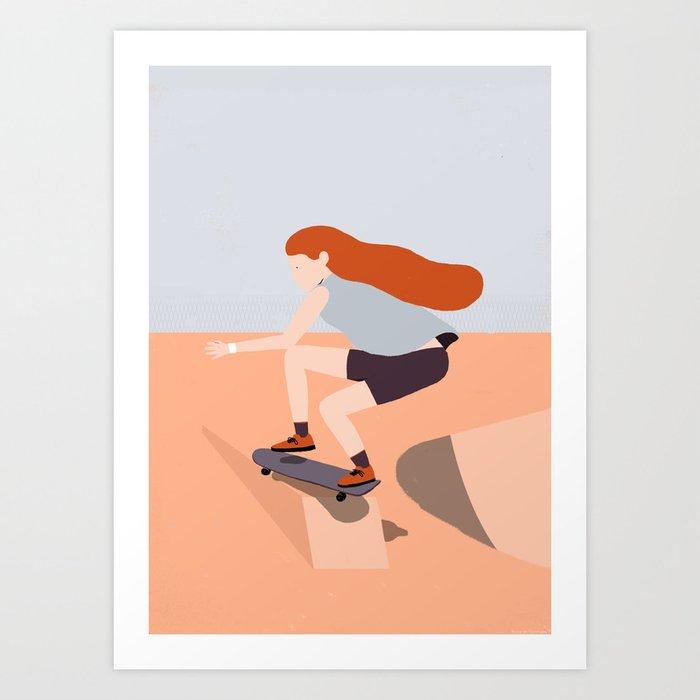 Skate Girl Series Art Print