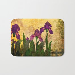 Vintage. Evening garden . Bath Mat