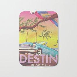 Destin Florida USA vintage style travel poster Bath Mat