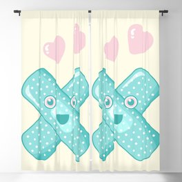 Pastel Happy Plaster Blackout Curtain