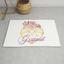 blooming gratitude heart Rug