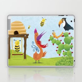 The Bees, The Birds and The Caterpillar Laptop & iPad Skin