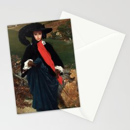 """Frederic Leighton """"Portrait of May Sartoris"""" Stationery Cards"""