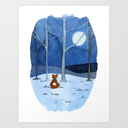 Alone in the Woods Art Print