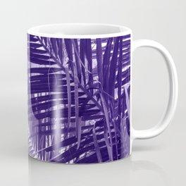 Violet Coco Palm Leaf. Tropical Nature Photo Poster Coffee Mug