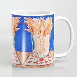 Glass Vase with Dried Plants drawing Coffee Mug