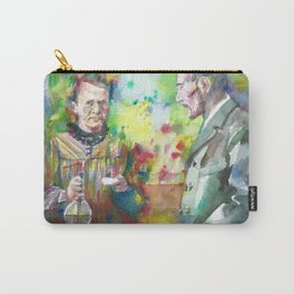 MARIE and PIERRE CURIE - watercolor portrait Carry-All Pouch