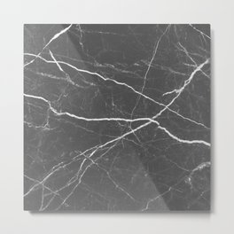 Gray marble abstract texture pattern Metal Print