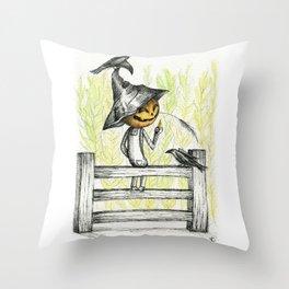 Mischievous Scarecrow Throw Pillow