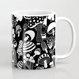 Friends among the mushrooms - Black Coffee Mug