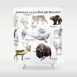 Animals of the Polar Regions Shower Curtain
