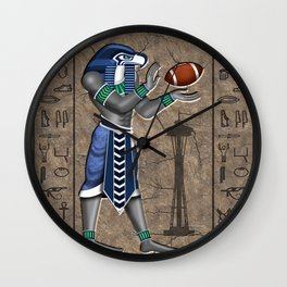 Football Hawk Pharoah Wall Clock