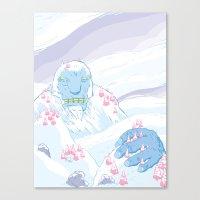 yeti Canvas Prints featuring Yeti by Scott Hallett