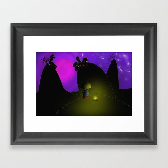 Home... Framed Art Print