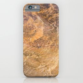 Hot Springs Orange - Yellowstone Photography iPhone Case