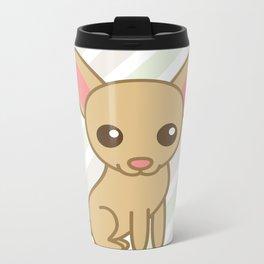 Pinky the Chihuahua  Metal Travel Mug