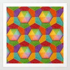 Geometrci Rainbow (smaller scale) Art Print