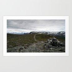 trail. Art Print