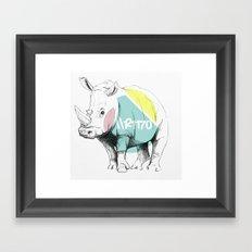 //RINO Framed Art Print