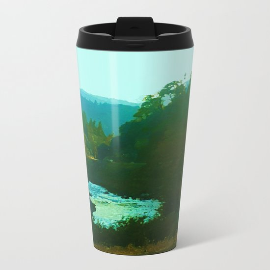 Runs To The Sea Metal Travel Mug