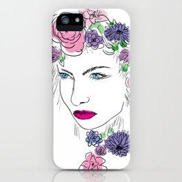 Girl with the Flowers iPhone Case