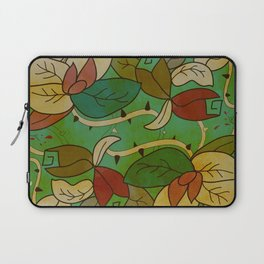 Floral, blood and thorn pattern Laptop Sleeve