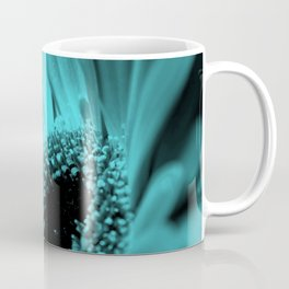 Gerbera . Blue background . Coffee Mug