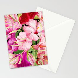 Tropical Power Flowers Stationery Cards