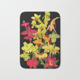 Orchids - Hot Colors! Bath Mat