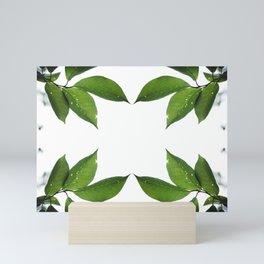 Mesmerizing Nature | Leafy Frame Up Mini Art Print